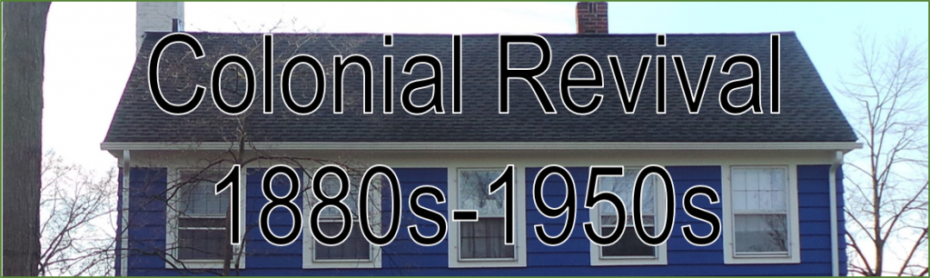 Image Banner Headline Colonial Revival 1880s - 1950s