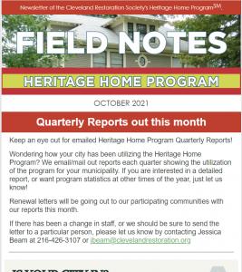 Clip of October 2021 Field Notes
